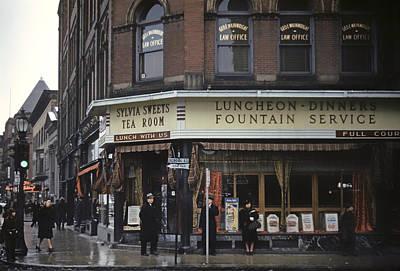 Tea Room Photograph - Sylvia Sweets Tea Room - Brockton Massachusetts 1940 by Mountain Dreams