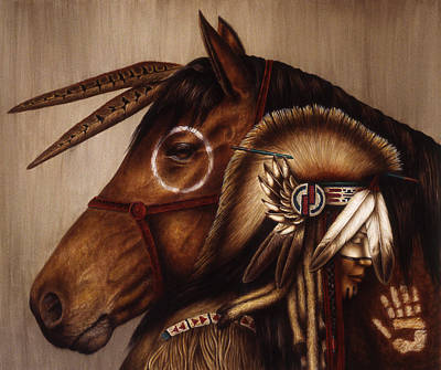 Native American Watercolor Painting - Symbionts by Pat Erickson