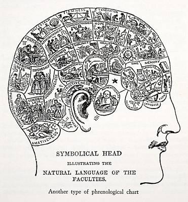 Symbolical Head Print by English School