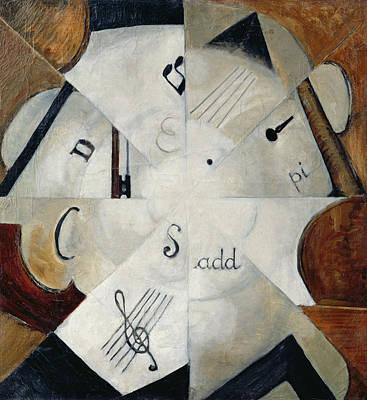 Treble Photograph - Symphony, 1915 Oil On Canvas by Michail Ivanovich Menkov