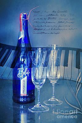 Symphony In Blue Print by Jutta Maria Pusl