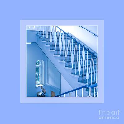 Backup Photograph - Symphony Of Blue Lines by Mona Stut