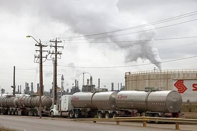 Destruction Photograph - Syncrude Tar Sands Upgrader Plant by Ashley Cooper