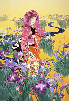 Irises Digital Art - Syoubu by Haruyo Morita