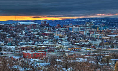 Syracuse Ny Photograph - Syracuse At Sunset by Everet Regal