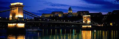 Budapest Photograph - Szechenyi Bridge Royal Palace Budapest by Panoramic Images