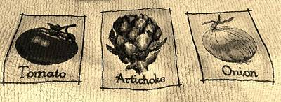 Artichoke Digital Art - T A O Sepia by Rob Hans