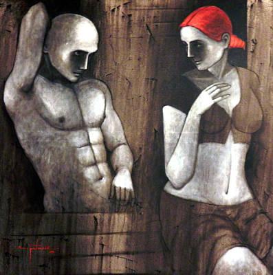 Gallerie Ak Painting - T Apk by Asit Patnaik
