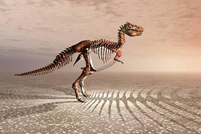 T. Rex Dinosaur Skeleton Print by Carol & Mike Werner