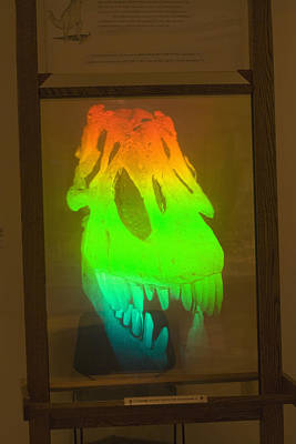 Hologram Photograph - T-rex Hologram by Science Stock Photography
