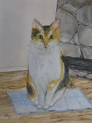 Green Eyes Painting - Tabby Cat Zoey by Kelly Mills