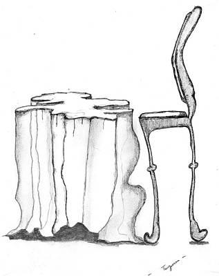 Table Chair Surrealiste Original by Dan Twyman
