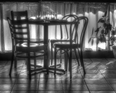 Empty Chairs Photograph - Table For Four by Nikolyn McDonald