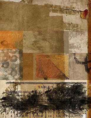 Chart Digital Art - Table I by Carol Leigh