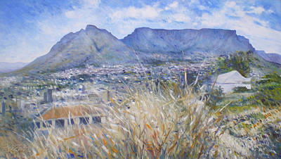Painting - Table Mountain Cape Town South Africa by Enver Larney