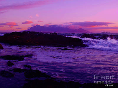 Southafrica Photograph - Table Mountain Ocean Flow by Charl Bruwer
