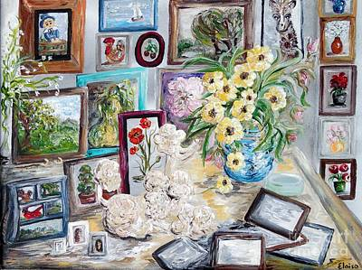 Living Room Art Painting - Table Of An Art Enthusiast by Eloise Schneider