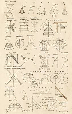 Table Of Conics Print by David Parker