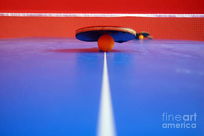 Red Photograph - Table Tennis by Michal Bednarek