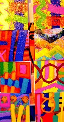 Painting Collage I Print by John  Nolan
