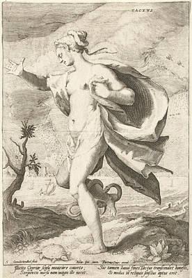 Tactvs, Cornelis Jacobsz Print by Cornelis Jacobsz. Drebbel And Petrus Overraat