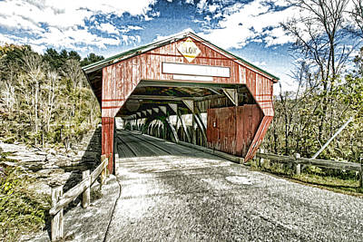 Taftsville Photograph - Taftsville Vermont Covered Bridge Photo Art by Constantine Gregory