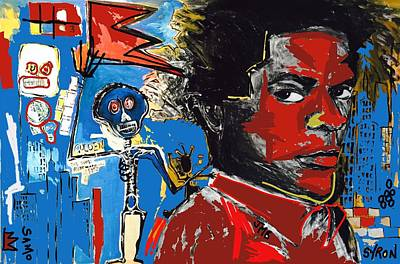 Basquiat Drawing - Tag by Helen Syron