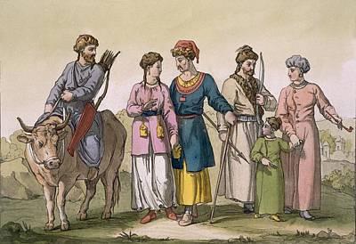 Taguri Tatars Of The Crimea Print by D.K. Bonatti