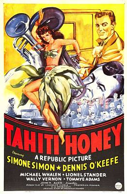 Whalen Photograph - Tahiti Honey, Us Poster, From Left by Everett