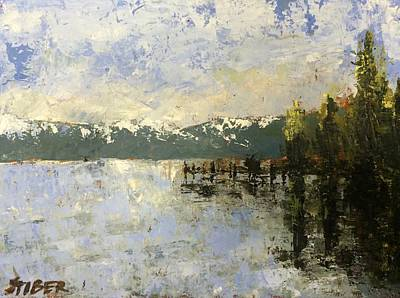 Impressionistic Landscape Painting - Tahoe Sunrise by Kathy Stiber