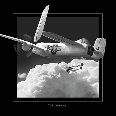 Tail Gunner Print by Larry McManus