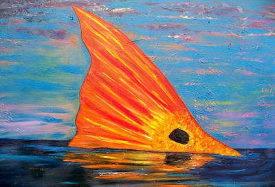 Galveston Painting - Tailing Redfish by Tracey Bautista