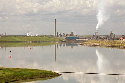 Tailings Pond Syncrude Tar Sands Mine Print by Ashley Cooper