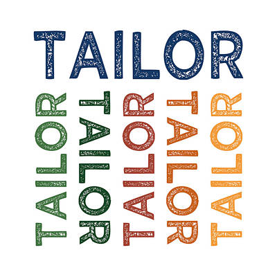 Tailor Cute Colorful Print by Flo Karp