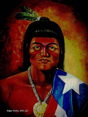 Puerto Rico Digital Art - Taino Boricua by Edgar Torres