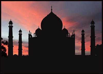 Taj Mahal Silhouette Print by Kim Andelkovic