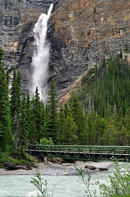 British Columbia Photograph - Takakkaw Falls by Lisa Phillips