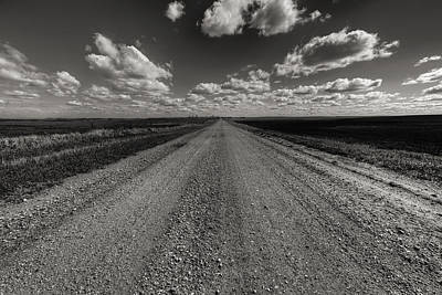 Take A Back Road Bnw Version Print by Aaron J Groen