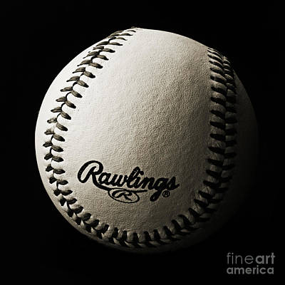 Baseball Photograph - Take Me Out To The Ball Game - Baseball Season - Sports - B W Square by Andee Design