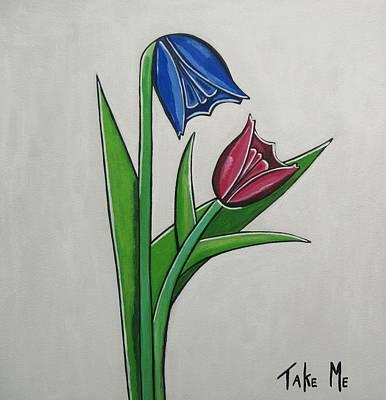Take Me Print by Sandra Marie Adams