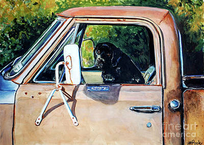 Old Trucks Painting - Take Me With You by Molly Poole