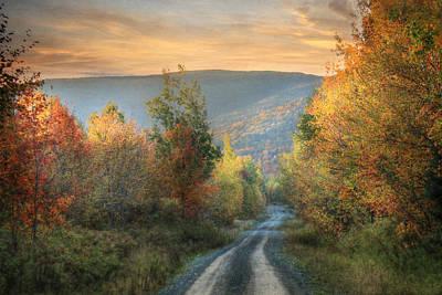 Maine Roads Photograph - Take The Back Roads by Lori Deiter