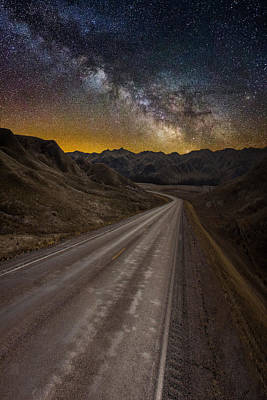 Badlands Photograph - Take The Long Way Home by Aaron J Groen
