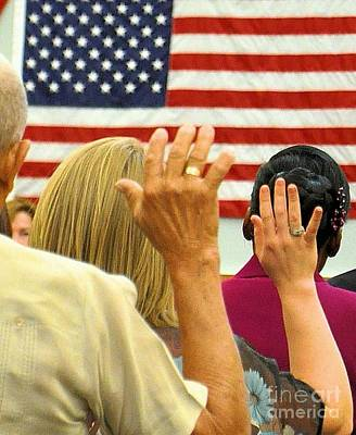 Taking Oath Photograph - Take The Oath by David Call