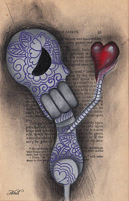 Pop Surrealism Painting - Take This by  Abril Andrade Griffith