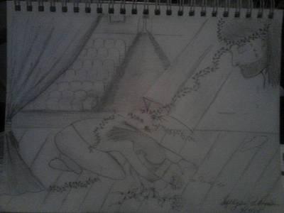 Drawing - Taken Upon Himself by Annette Abbott