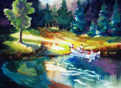 National Parks Painting - Taking A Break 2 by Kathy Braud