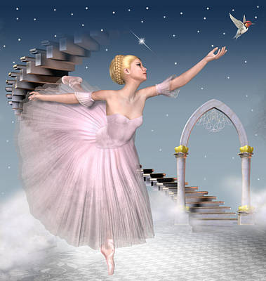 Sylph Digital Art - Taking Flight by David Griffith