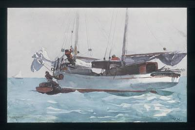 Key West Painting - Taking On Wet Provisions by Celestial Images