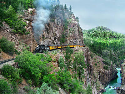 Steam Locomotive Photograph - Taking The Highline Home by Ken Smith